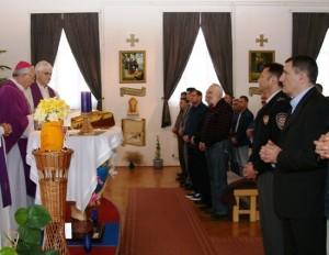 Misa u lepoglavskoj kaznionici (arhiv Vojne biskupije)